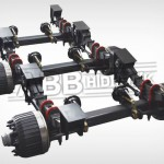 3 Axle Set With Mechanical Suspension