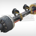 Lowbed Axle